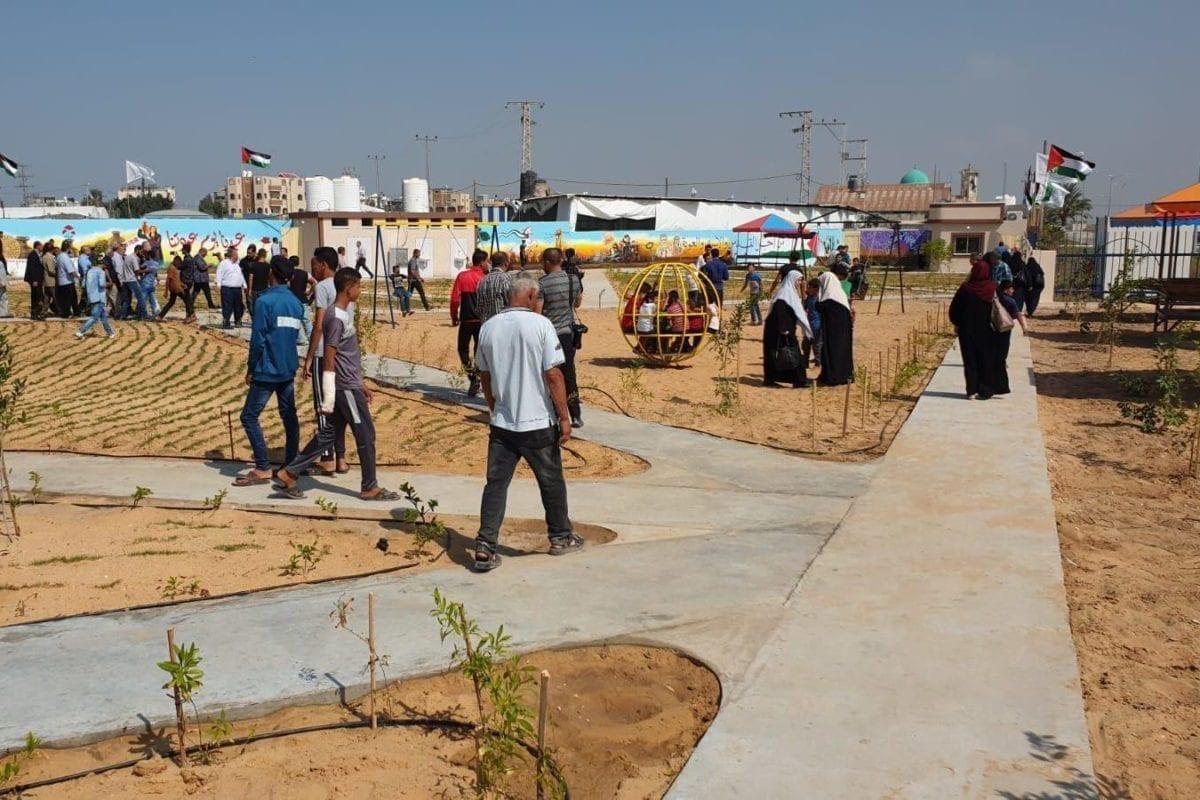 Gaza inaugura 'Parque do Retorno' ao lado da cerca israelense
